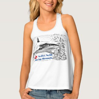 Reef Sharksilhouette Tank Top