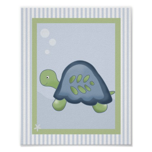 REEF TURTLE 8x10 BABY NURSERY ROOM PRINT