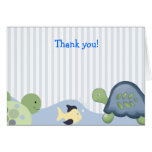 REEF TURTLE Folded Thank you note Greeting Cards