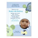 "REEF TURTLE Photo 5x7 Custom Birthday Invitation 5"" X 7"" Invitation Card"