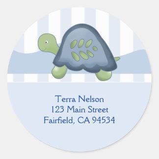 REEF TURTLE Return Address Stickers