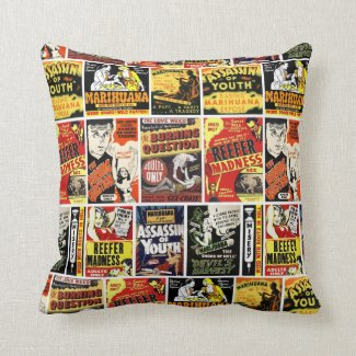 Reefer Madness Poster Throw Pillows