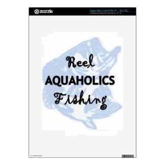 Reel Aquaholics Fishing iPad 3 Decal