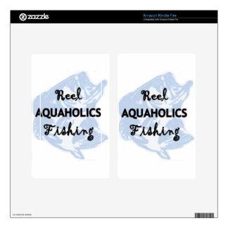 Reel Aquaholics Fishing Kindle Fire Decal