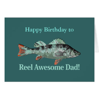 Reel Awesome Dad Fishing Humor Birthday Humor Card