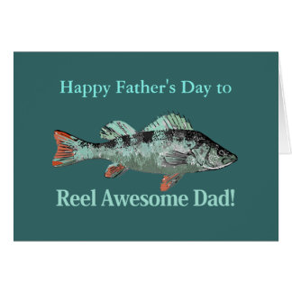Reel Awesome Dad Fishing Humor Father's Day Pun Card