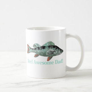 Reel Awesome Dad Fun Father's Quote Classic White Coffee Mug