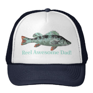 Reel Awesome Dad Fun Father's Quote Hat
