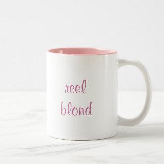 reel blond Two-Tone coffee mug
