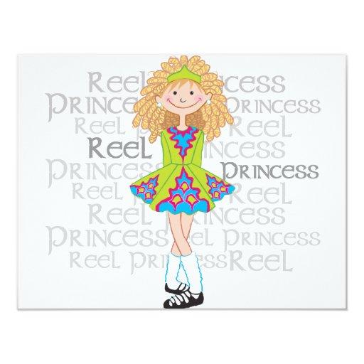 "Reel Blonde 4.25"" X 5.5"" Invitation Card"
