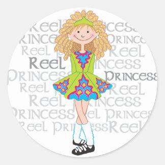 Reel Blonde Classic Round Sticker