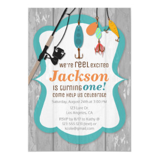 Reel Excited Fishing Birthday Invitation