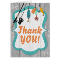 Reel Excited Fishing Matching Party Thank You Card