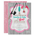 Reel Excited Fishing Pink Baby Shower Invitation