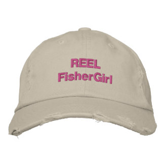 REEL FisherGirl Trendy Hat Embroidered Hats