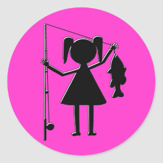 REEL GIRL CLASSIC ROUND STICKER