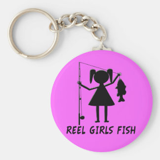 REEL GIRLS FISH KEYCHAIN