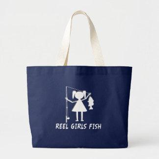 REEL GIRLS FISH! LARGE TOTE BAG