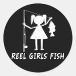 REEL GIRLS FISH! ROUND STICKERS