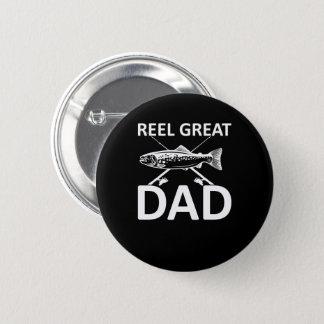 Reel Great Dad Cute Fishing Dad Saying Pinback Button