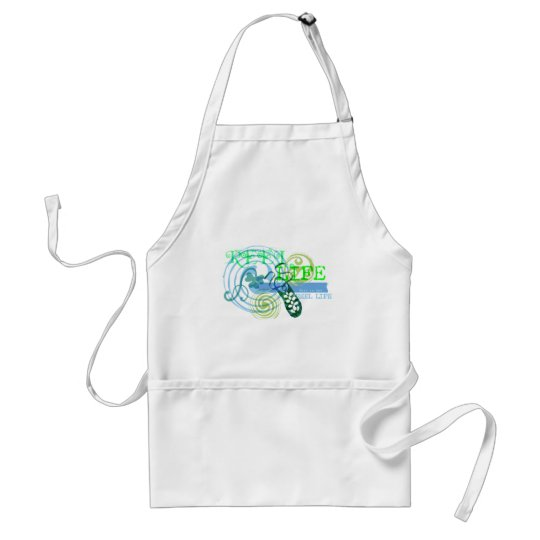 Reel Life in Blue Adult Apron