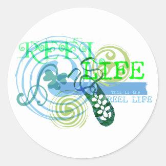 Reel Life in Blue Sticker