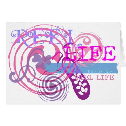 Reel Life in Pink Card