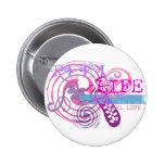 Reel Life in Pink Pinback Button