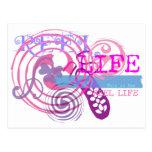 Reel Life in Pink Postcard