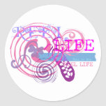 Reel Life in Pink Stickers