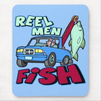 Reel Men Fish Fishing T-shirts Gifts Mouse Pad