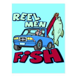 Reel Men Fish Fishing T-shirts Gifts Postcard