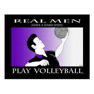 Reel Men: Play Volleyball Postcard