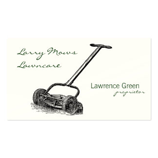 Reel Mower Double-Sided Standard Business Cards (Pack Of 100)