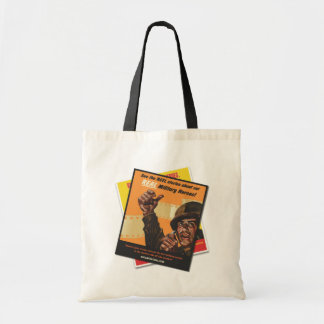 Reel Stories Male Vintage Military Poster Tote