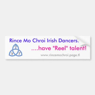 Reel talent bumper sticker