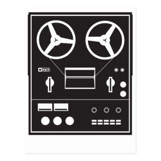 reel tape recorder postcard