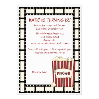 Reel Time Birthday Party Invitation