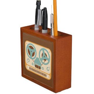 Reel to Reel Analog Tape Recorder Desk Organizer