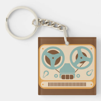 Reel to Reel Analog Tape Recorder Keychain