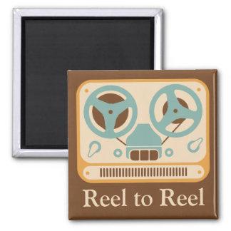 ❝Reel to Reel❞ Analog Tape Recorder 2 Inch Square Magnet