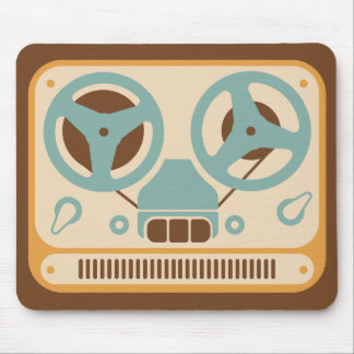 Reel to Reel Analog Tape Recorder Mouse Pad