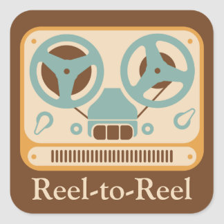 Reel-to-Reel Tape Deck Square Stickers