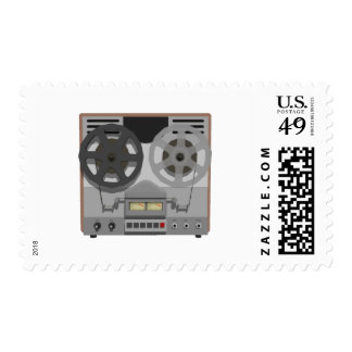 Reel to Reel Tape Player: 3D Model: Postage Stamps