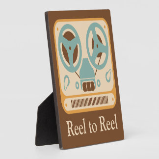 ❝Reel to Reel❞ Tape Recorder Customized Photo Plaques