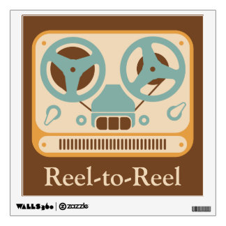 Reel-to-Reel Tape Recorder Personalized Wall Decal