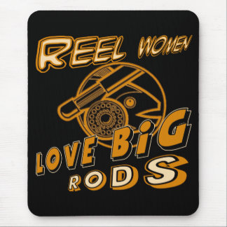 Reel Women Fishing T-shirts and Gifts Mouse Pad