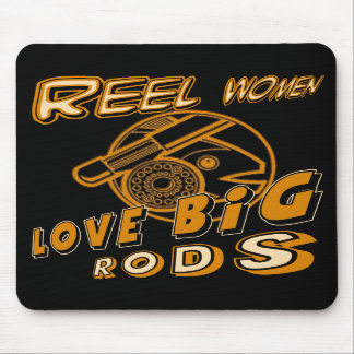 Reel Women Fishing T-shirts and Gifts Mouse Mat