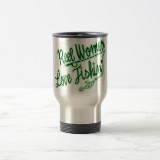 Reel Women Love Fishing womens outdoor 15 Oz Stainless Steel Travel Mug