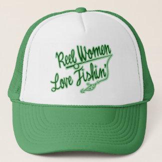 Reel Women Love Fishing womens outdoor Trucker Hat